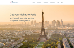 site créé par Paris French Tech