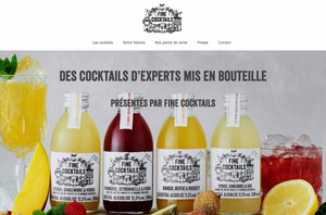 site internet créé par Fine Cocktails